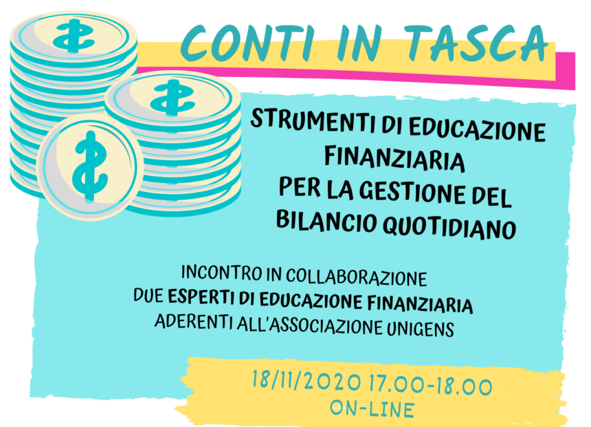 INCONTRO INFORMATIVO: CONTI IN TASCA – 18/11/2020