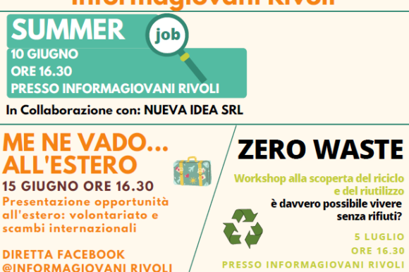 INCONTRI INFORMATIVI ESTIVI @Informagiovani Rivoli